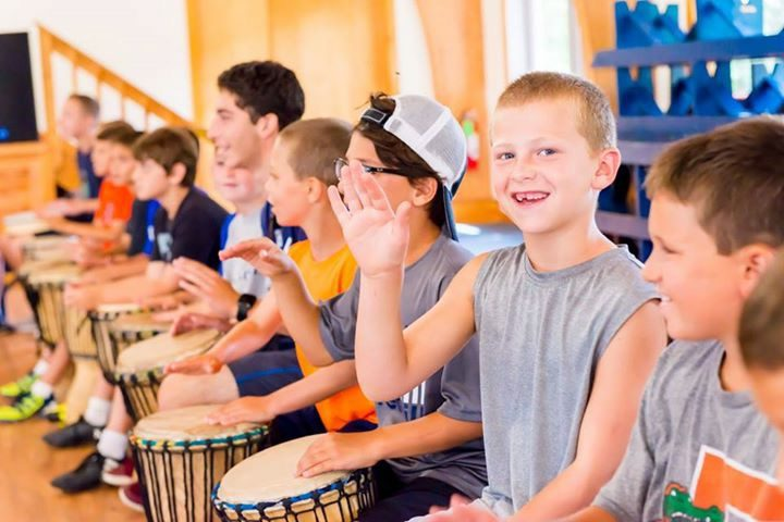 Group Drumming Program in Summer Camp